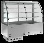 Einbaukühlvitrine Elegance Zentralkühlung - mit Kühlplatte - kundenseitig Selbstbedienungsklappen KBS Gastrotechnik
