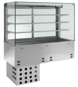 Einbaukühlvitrine Priums mit Kühlwanne KBS Gastrotechnik