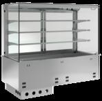 Einbaukühlvitrine Primus Zentralkühlung - mit Kühlplatte - kundenseitig offen KBS Gastrotechnik