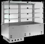 Einbaukühlvitrine Primus Zentralkühlung - mit Kühlwanne - kundenseitig Selbstbedienungsklappen KBS Gastrotechnik