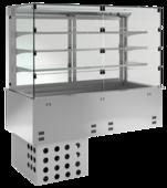 Einbaukühlvitrine Priums mit Kühlplatte - Selbstbedienungsklappen KBS Gastrotechnik