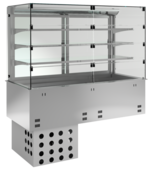 Einbaukühlvitrine Priums mit Kühlwanne - Selbstbedienungsklappen KBS Gastrotechnik