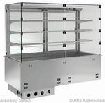 Einbauvitrine für Zentralkühlung mit Kühlwanne P-EKVW 3A GN 2/1 SB ohne Maschine - 389121 KBS-Gastrotechnik