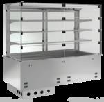 Einbauvitrine für Zentralkühlung mit Kühlwanne P EKVW 3A GN 3/1 SB ohne Maschine 389131 KBS Gastrotechnik