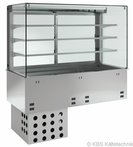 Einbauvitrine mit Kühlwanne P-EKVW 3A GN 5/1 - 380150 KBS-Gastrotechnik