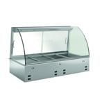 Einbauwarmhaltevitrine gebogenes Glas E WHV GN 2/1 348120 KBS Gastrotechnik