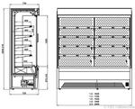 Skizze Bali Pro mit Maschine und Drehtüren KBS Gastrotechnik